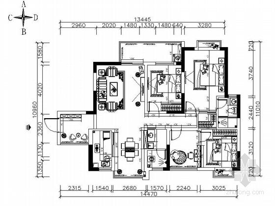 [武汉]温馨三居室室内装修图