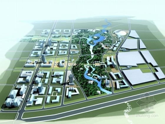 [辽宁]滨河现代风格城市规划设计方案文本(百余张图纸 知名设计院)