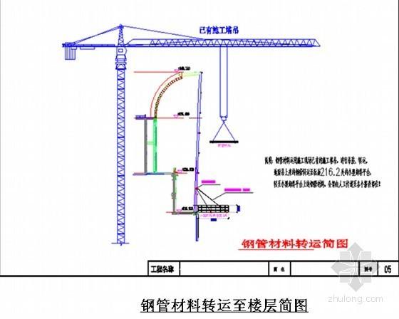 钢管材料转运至楼层简图