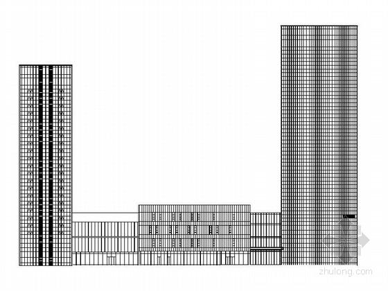 [深圳]26层大型五星级酒店综合体建筑施工图(460间客房)