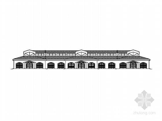 欧式风格两层赛马场建筑施工图
