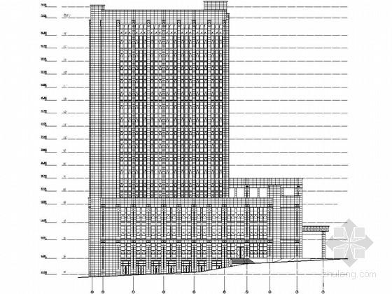 [重庆]18层五星级酒店幕墙施工图(143 170玻璃幕墙 石材幕墙)