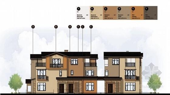 [北京]多层别墅建筑立面颜色优化方案