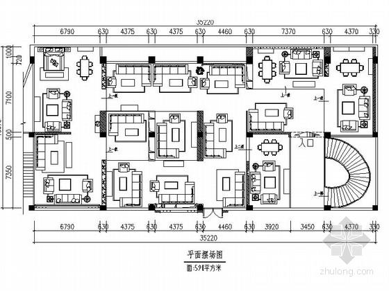 [广东]某时尚名品展厅室内装修施工图(含效果)