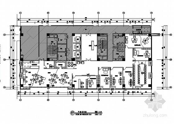 [苏州]开放明亮现代风格办公空间CAD装饰施工图