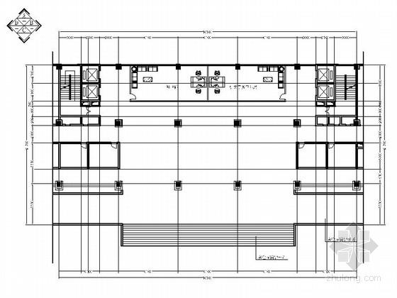 [湖北]容美广场办公大楼大厅室内装修施工图