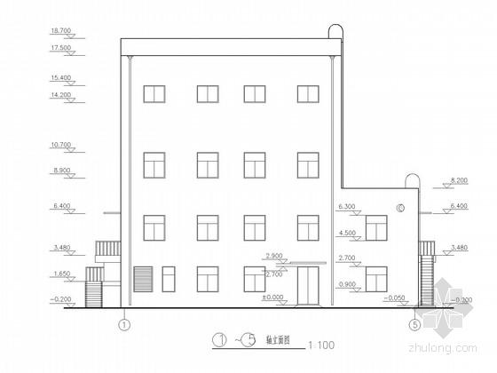 两层框排架主井提升机房结构施工图(含建施)