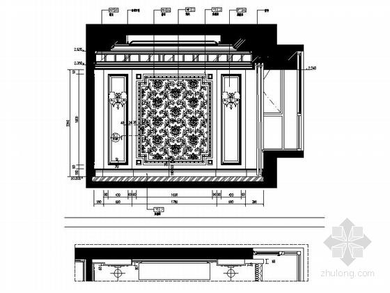 [浙江]某公馆时尚简欧三层别墅装修图(含效果)餐厅立面图