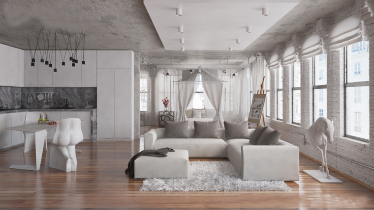 又酷又简洁的现代客厅_8