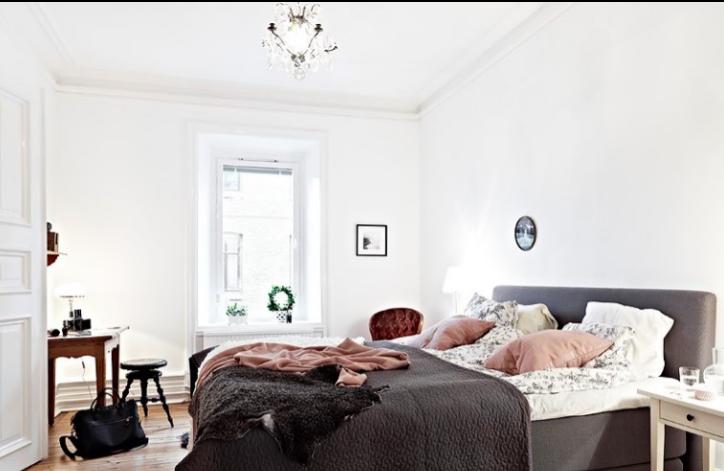 92平北欧公寓两室一厅室内设计实景图(18张)-卧室实景图
