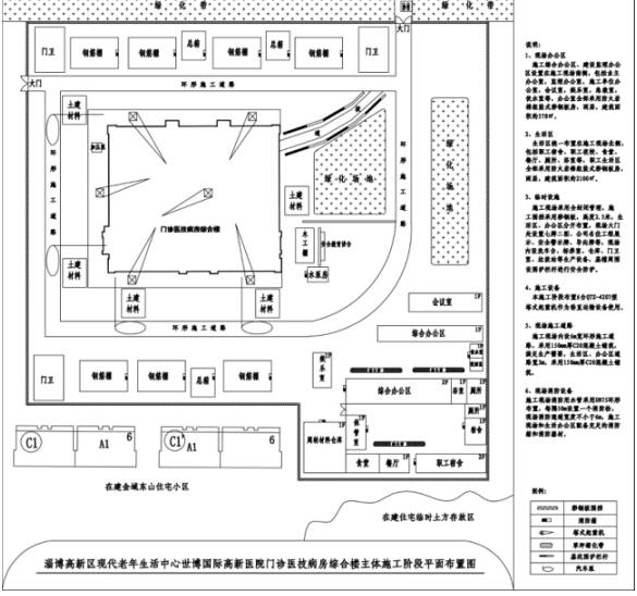 淄博现代老年生活中心世博国际高新医院综合楼施工组织设计