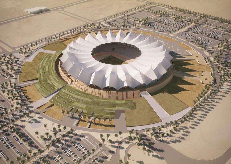 SchiattarellaAssociati日前公布了利雅得体育场设计方案