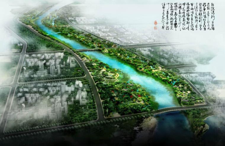 [山东]自然开放性城市绿地水系景观规划设计