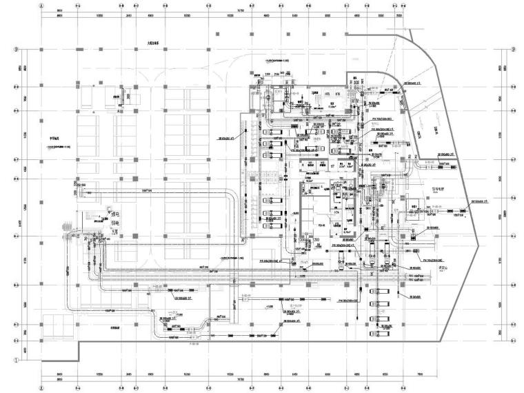 [甘肃]高层五星级酒店暖通空调全系统设计施工图(制冷机房)