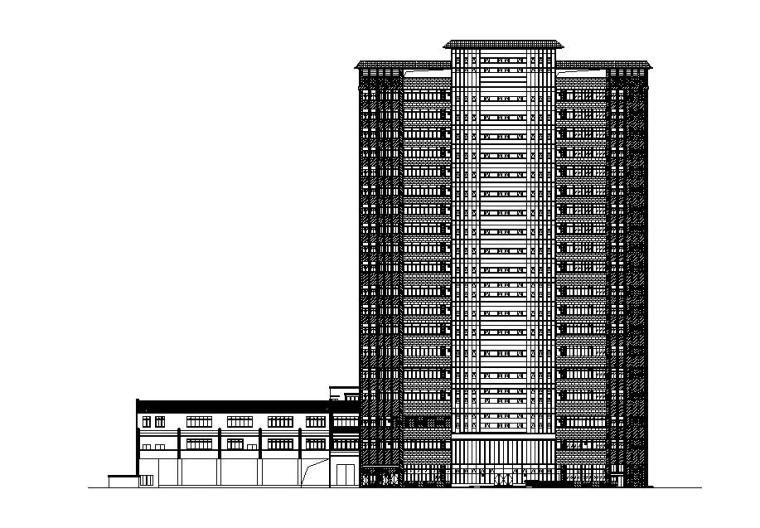 [上海]高層塔式知名企業金融中心辦公樓建筑施工圖(含地下室)