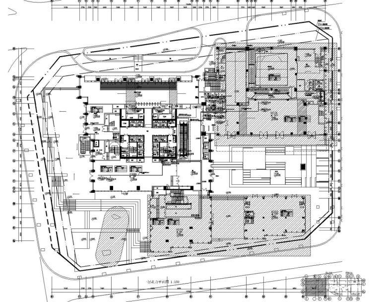 [广东]知名地产大厦综合体公寓办公商业强弱电施工图(大院最新)