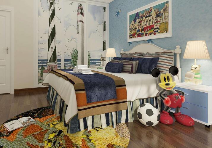 广西儿童房装修?三室一厅儿童房装修设计原则