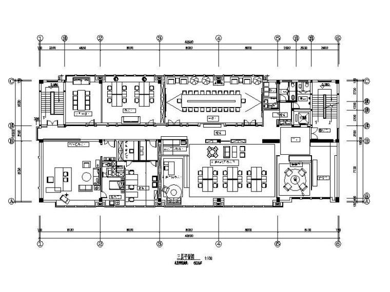 现代简约办公室设计施工图(含效果图)