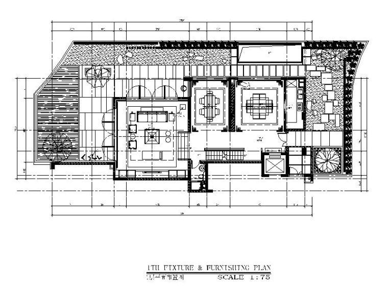 [深圳]新中式京基别墅平面方案设计(含效果图)