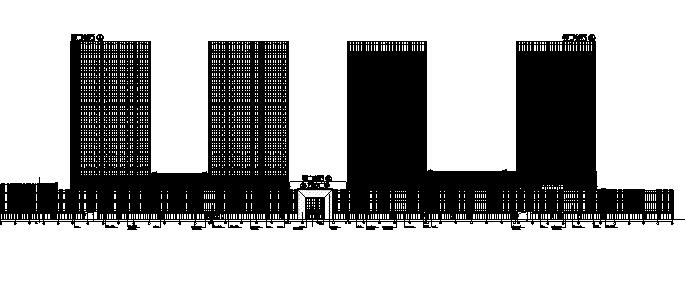 [河北]超高层现代风格万达商业中心建筑施工图(含效果图及su)