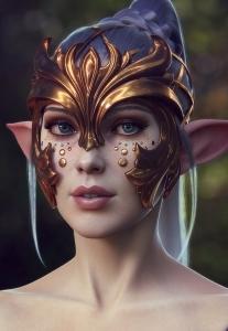 VR全模渲染教程资料下载-超唯美精灵女孩创建[教程]