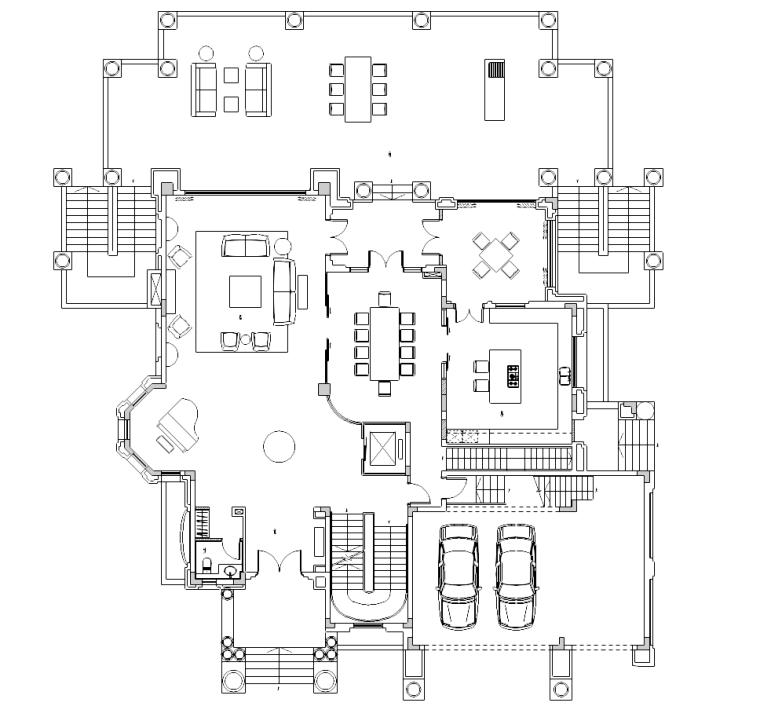 [贵州]某三层别墅装修施工图及效果图