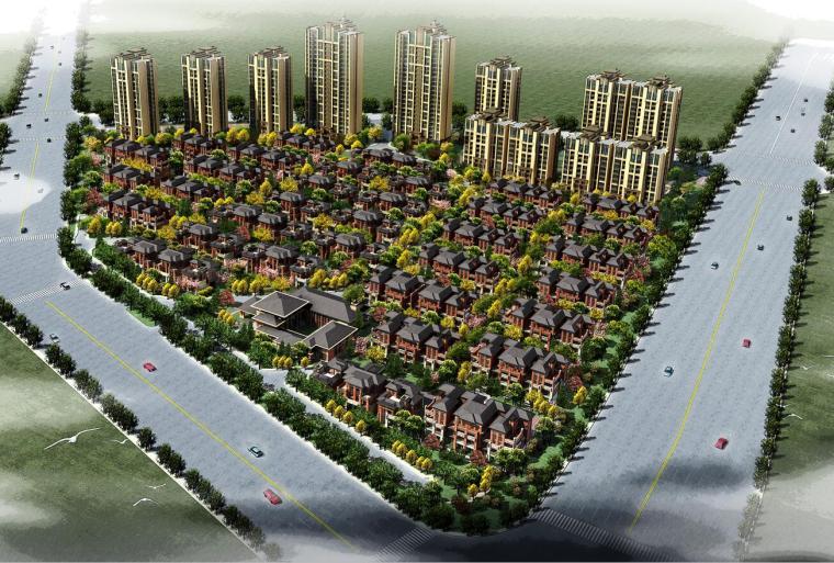 [山东]临沂北城新区新中式风格居住区建筑方案文本(JPG+119页)