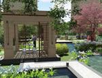 [广东]西关风情欧式别墅休闲院落景观设计方案