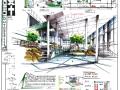 [室内快题设计]户外品牌展示空间、家居卖场高清手绘图
