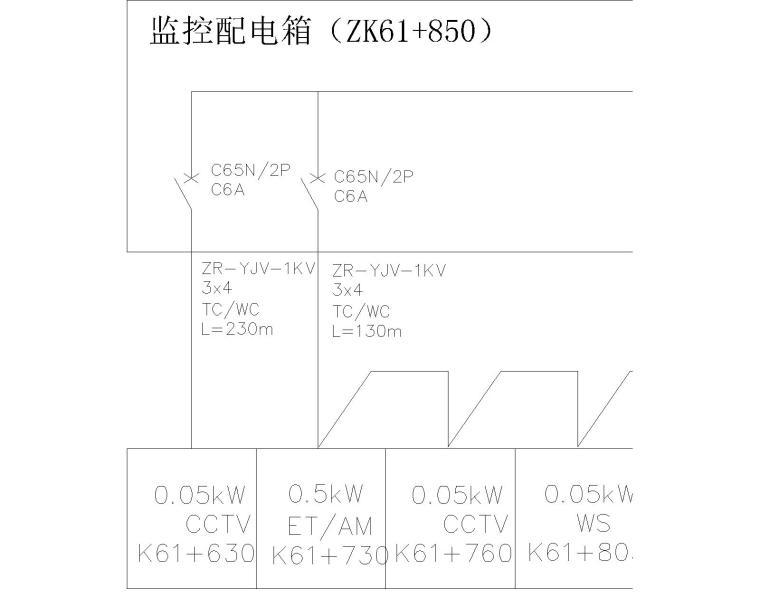 [大南山]隧道管理站配电系统图