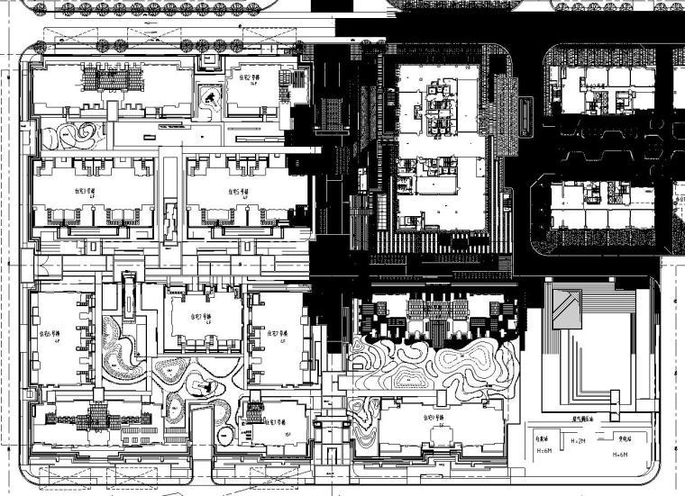 [上海]创智天地居住办公区景观设计施工图设计(CAD)