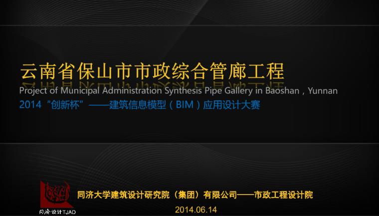 云南省保山市市政综合管廊BIM工程
