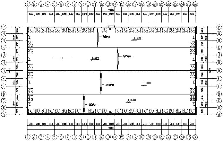 湖北圣龙单山双跨刚架结构施工图_1