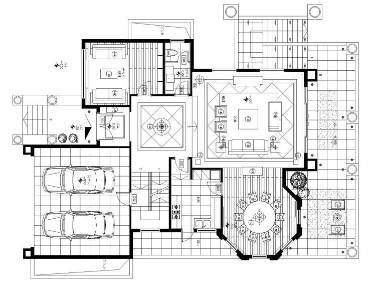 [南京]中山新城别墅样板间装修全套施工图(附手绘草图)