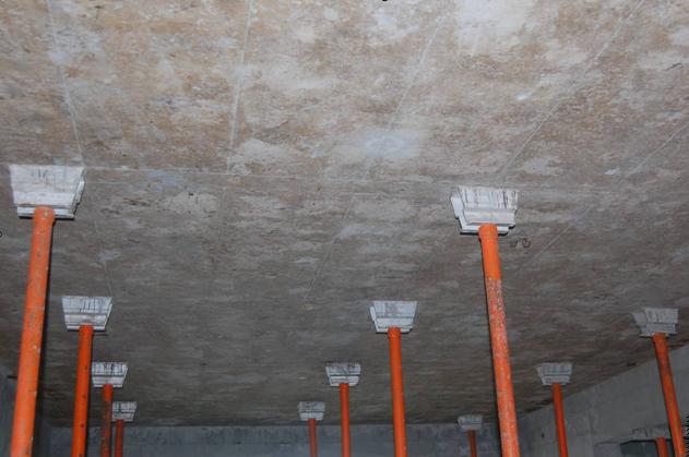 框架剪力墙商品住宅楼铝合金模板专项施工方案-顶板拆模后效果