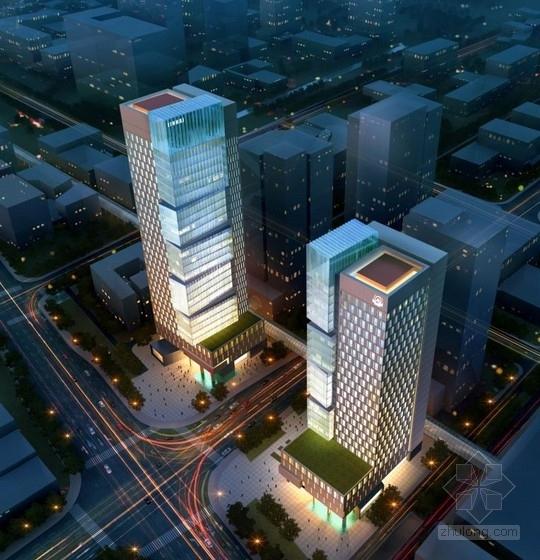 [合集]3套现代风格多功能双子塔式商务办公楼建筑设计方案文本