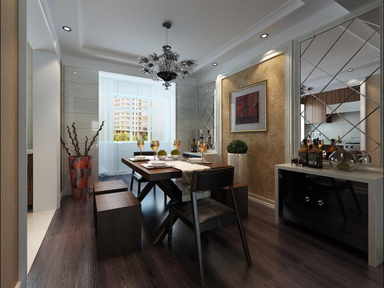 歐式舒適餐廳3D模型下載