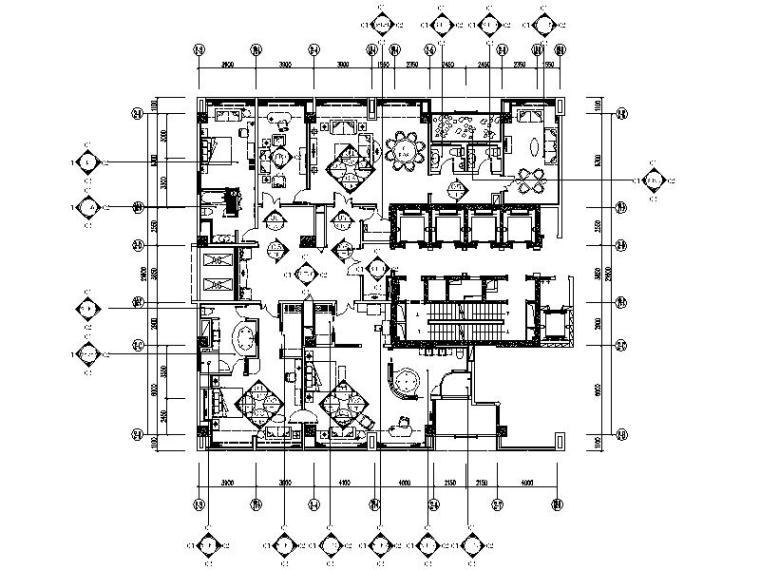 [成都]国际酒店贵宾楼套房设计施工图(含效果图)