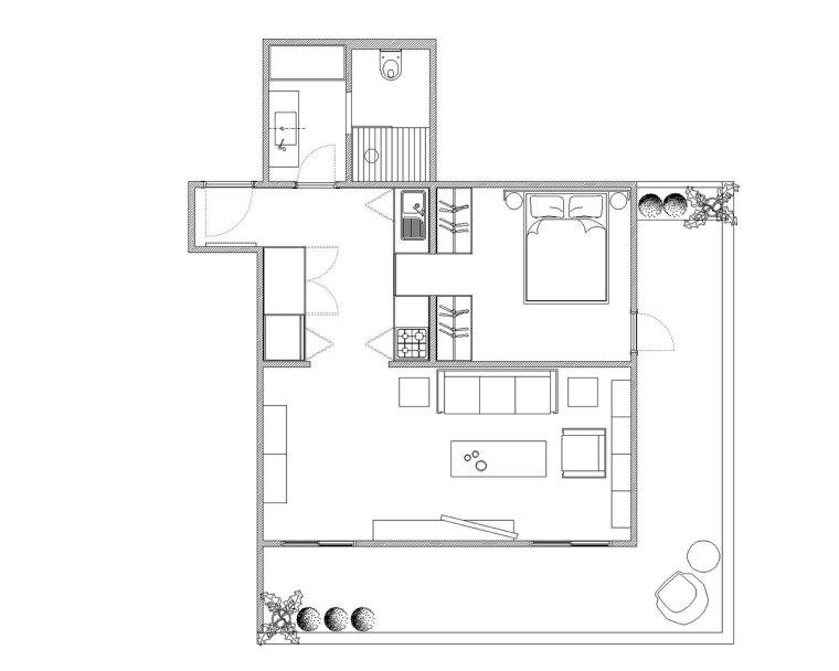 伊斯坦布尔:这间只有41平米的公寓却带来无限的生活美感_10