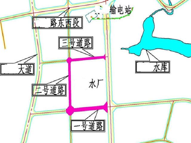 [重庆]14m~22m水厂周边道路工程设计图71张CAD(含交通安全)