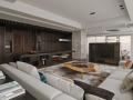 现代风格客厅设计3D模型(附效果图)