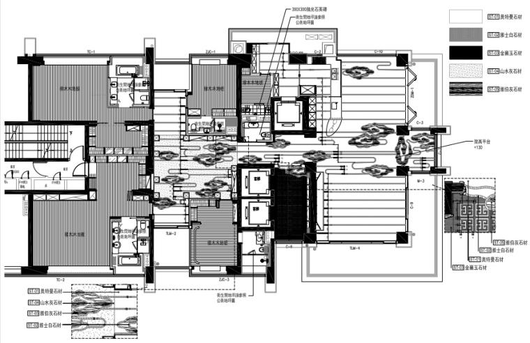 [深圳]邱德光|前海壹方中心现代中式风格住宅设计施工图+物料书+效果图_2