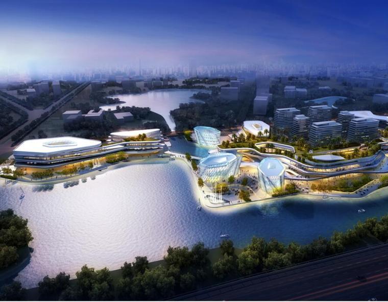 [江苏]苏州科技园商业综合体建筑文本(现代风格+PPT+128页)