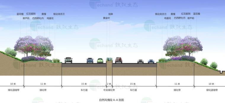 [广东]湛江海东快线概念景观设计(PDF+55页)-剖面图