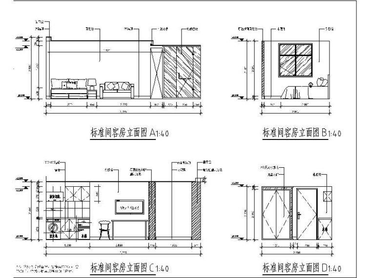 [北京]酒店式公寓室内设计施工图(含效果图)_3