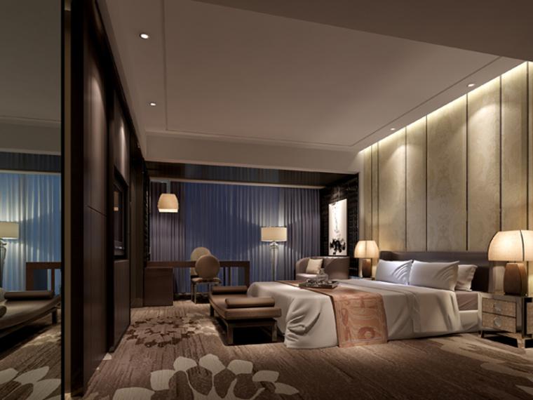 现代客房3D模型下载