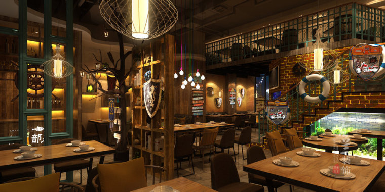 炉鱼部落-榆林专业特色餐厅设计公司_2