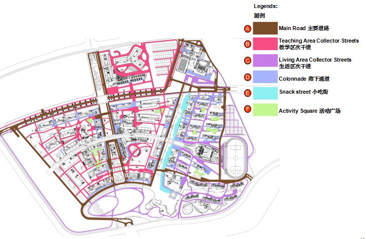 [上海]现代风格自然生态大学校园景观规划设计方案_2