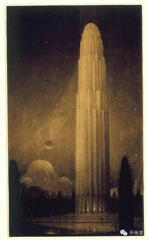 百年经典建筑设计手绘图_45