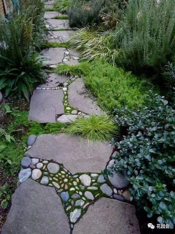 花草与石板的关系•花园小径_22